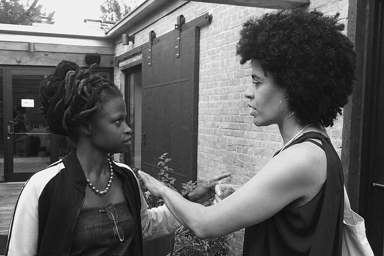 Talking with artist Zoe Charlton at the Black Artist Retreat, Chicago, 2015